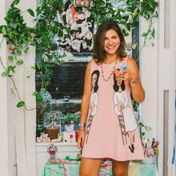 """<b>The Designer:</b> <a href=""""http://ny.racked.com/archives/2014/08/14/susan_alexandras_jewelry.php"""">Susan Alexandra</a><br><br> <b>The Look:</b> """"It takes three hours minimum to paint a bracelet. I use baby paintbrushes and enamel. It's hard to compare"""