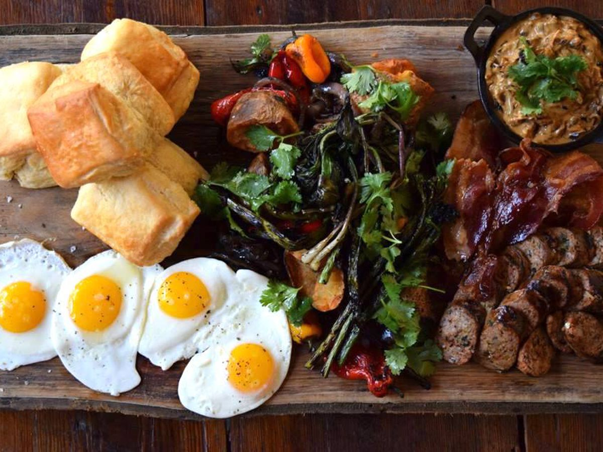 The woodsman's breakfast at Ladybird Grove & Mess Hall.