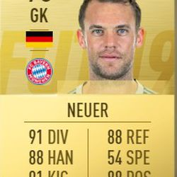 Manuel Neuer in FIFA 2019