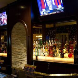 Behind the bar at Sierra Gold.