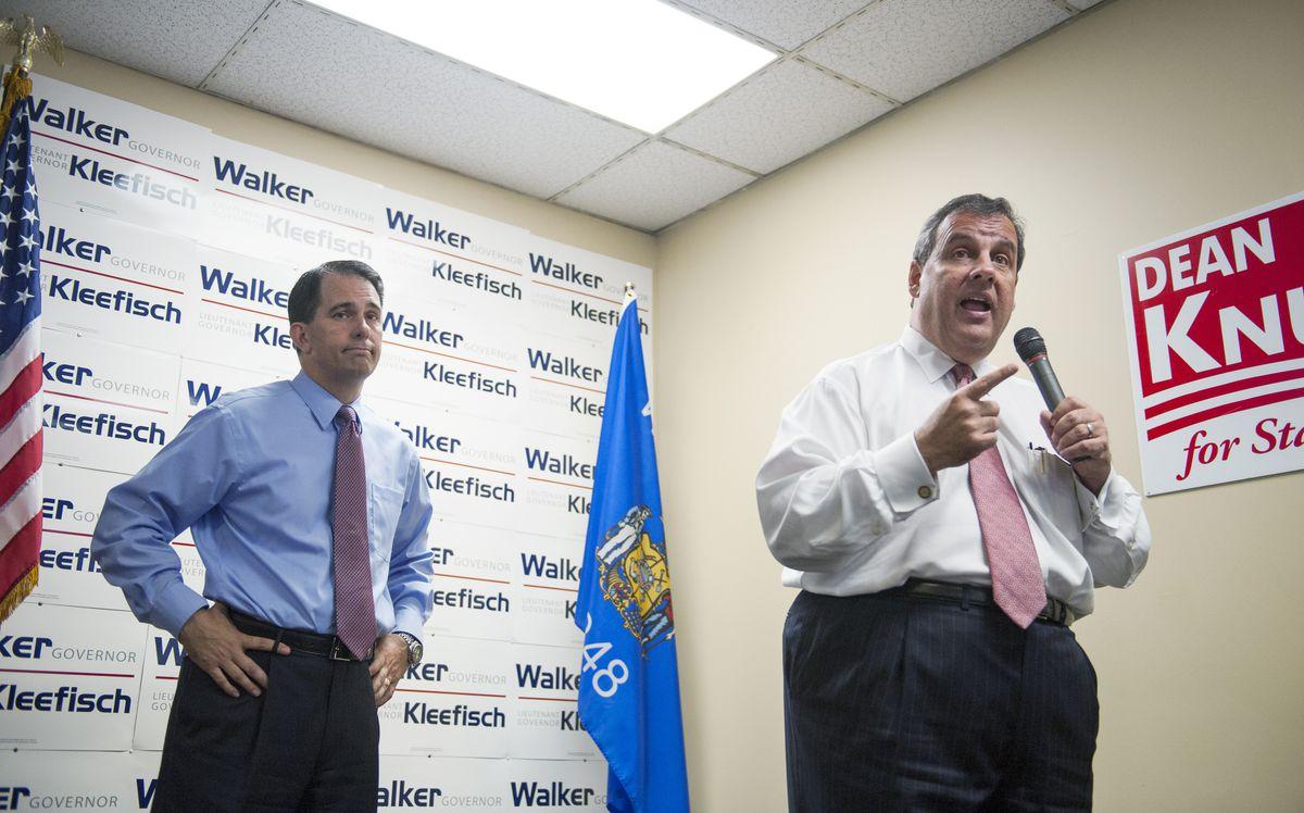 Scott Walker and Chris Christie