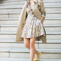 """Wendy of <a href=""""http://www.wendyslookbook.com/"""">Wendy's Lookbook</a> is wearing a <a href=""""http://www.target.com/p/kate-young-for-target-strapless-bow-dress-floral-print/-/A-14408009?ref=tgt_adv_xasd0001&AFID=Performics_rewardStyle_0004dd1ef53a7a2d0a42c"""