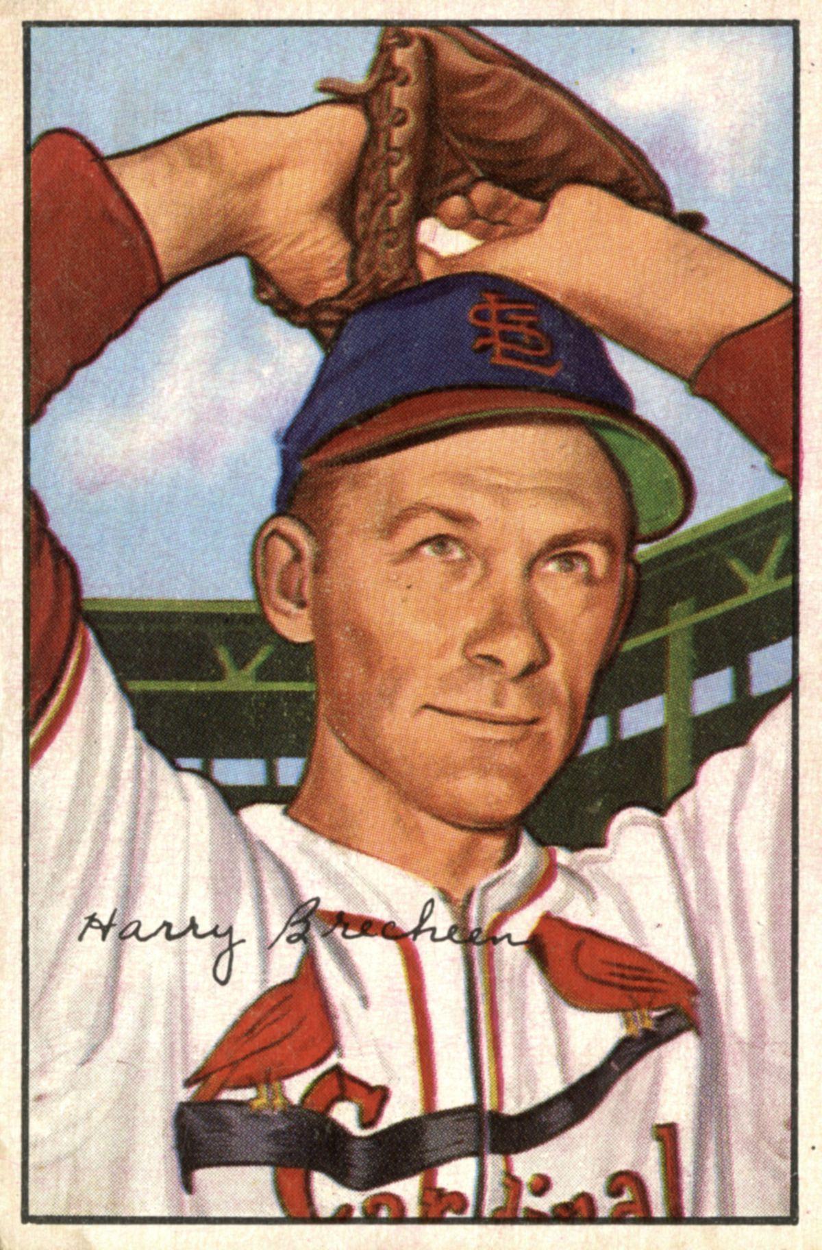 Baseball Card Of Harry Brecheen