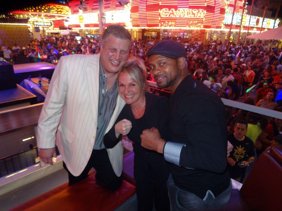 Roy Jones Jr., Derek Stevens and Nicole Parthum at the D Las Vegas.