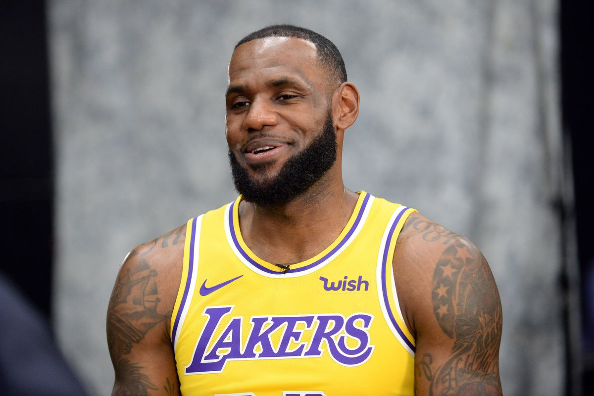 huge discount 76ae0 d9fa0 Order the new Lakers jerseys LeBron & Co. wore at media day ...