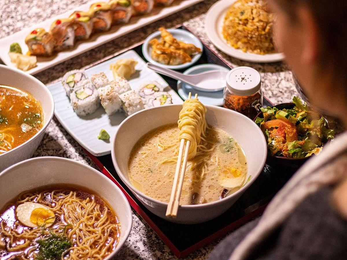 Ramen and sushi, still on the takeout and delivery menu at Osaka Japanese Bistro.