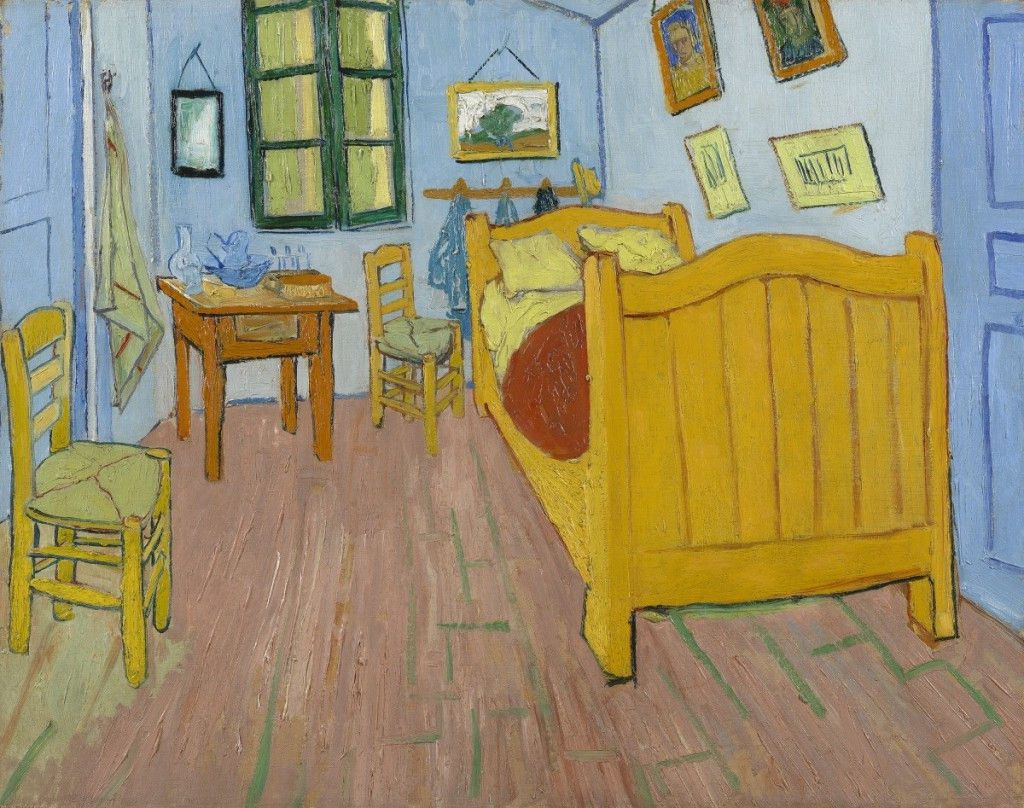 """Van Gogh's """"The Bedroom"""" (1888), in the collection of the Van Gogh Museum in Amsterdam, the Netherlands."""