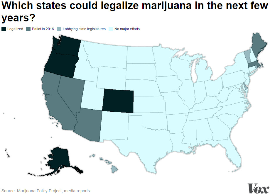 These are the next few states to consider marijuana legalization.