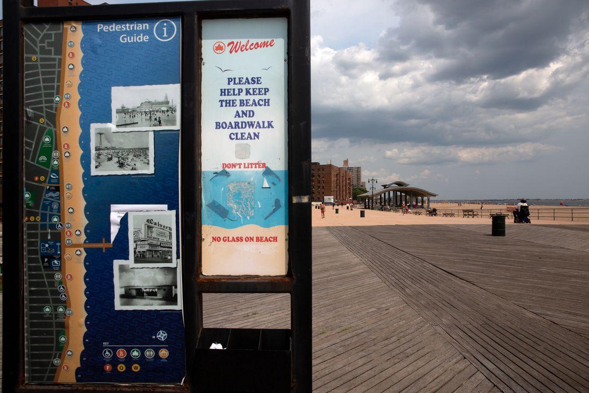 Brighton Beach, Brooklyn is in a flood zone, July 22, 2021.