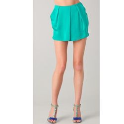 "<a href=""http://www.shopbop.com/giana-drape-short-by-malene/vp/v=1/845524441938494.htm?folderID=2534374302024684&fm=other-shopbysize-viewall&colorId=11907""> By Malene Birger Giana draped shorts<a/>, $161 shopbop.com"