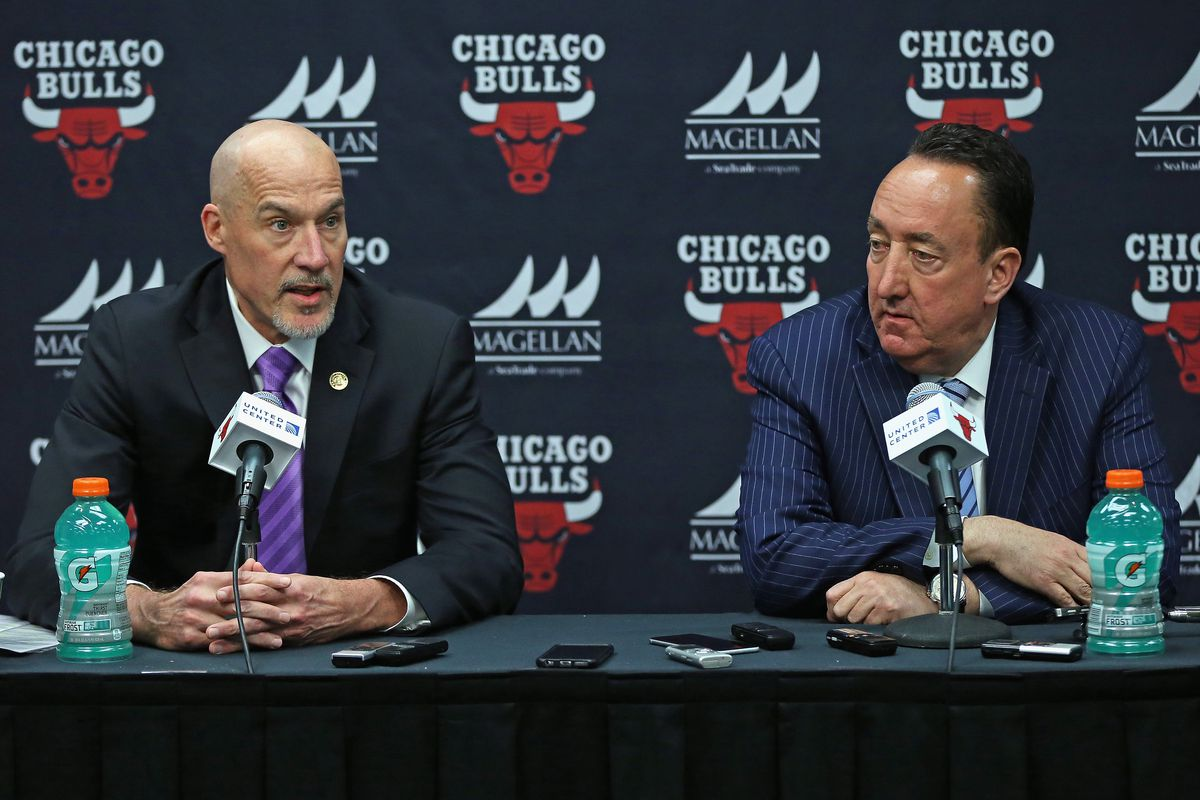 The Bulls reportedly are looking for an executive who will have full authority on the team's basketball decisions. That will mean, at a minimum, a reduced role for vice president John Paxson (left) and general manager Gar Forman.