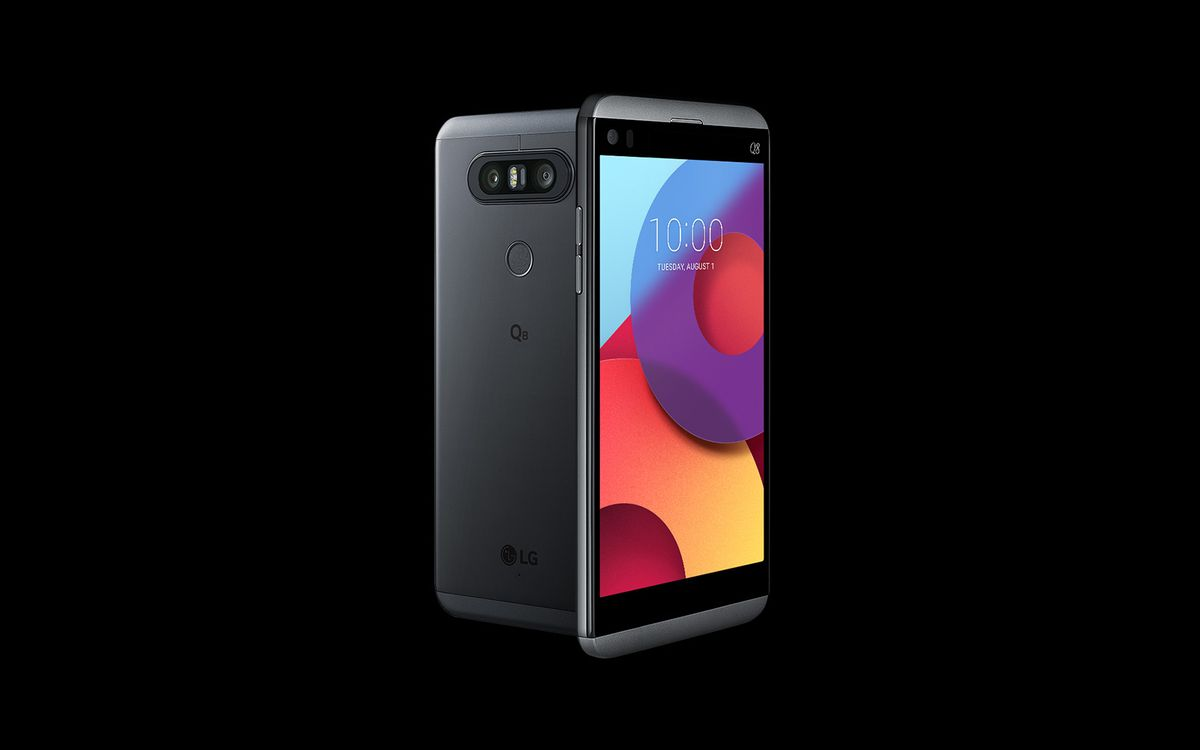 The LG Q8 is a smaller version of last year's V20, with