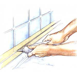 <p><strong>Caulking Trick</strong></p>