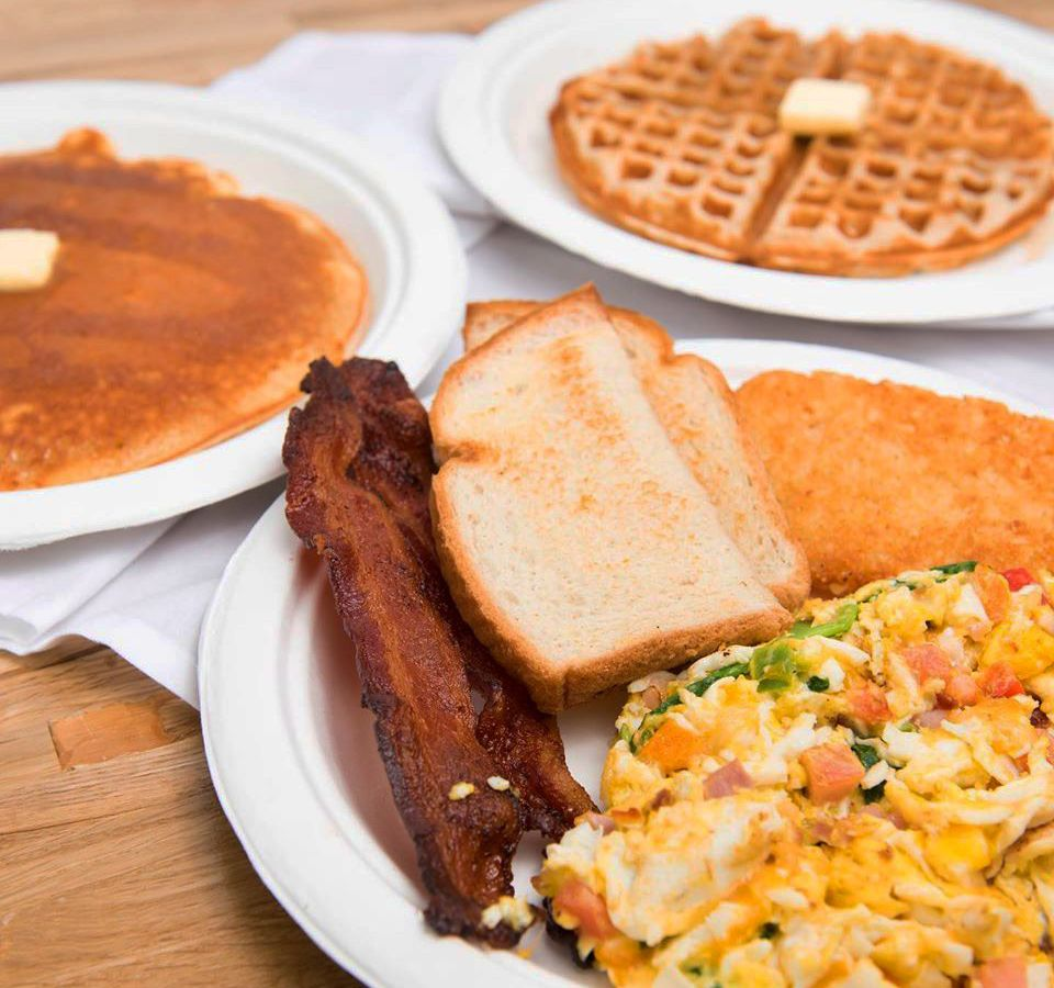 Bacon, toast, pancakes, waffles and egg dish favorites are all on the menu at Yourway Breakfast + Lunch