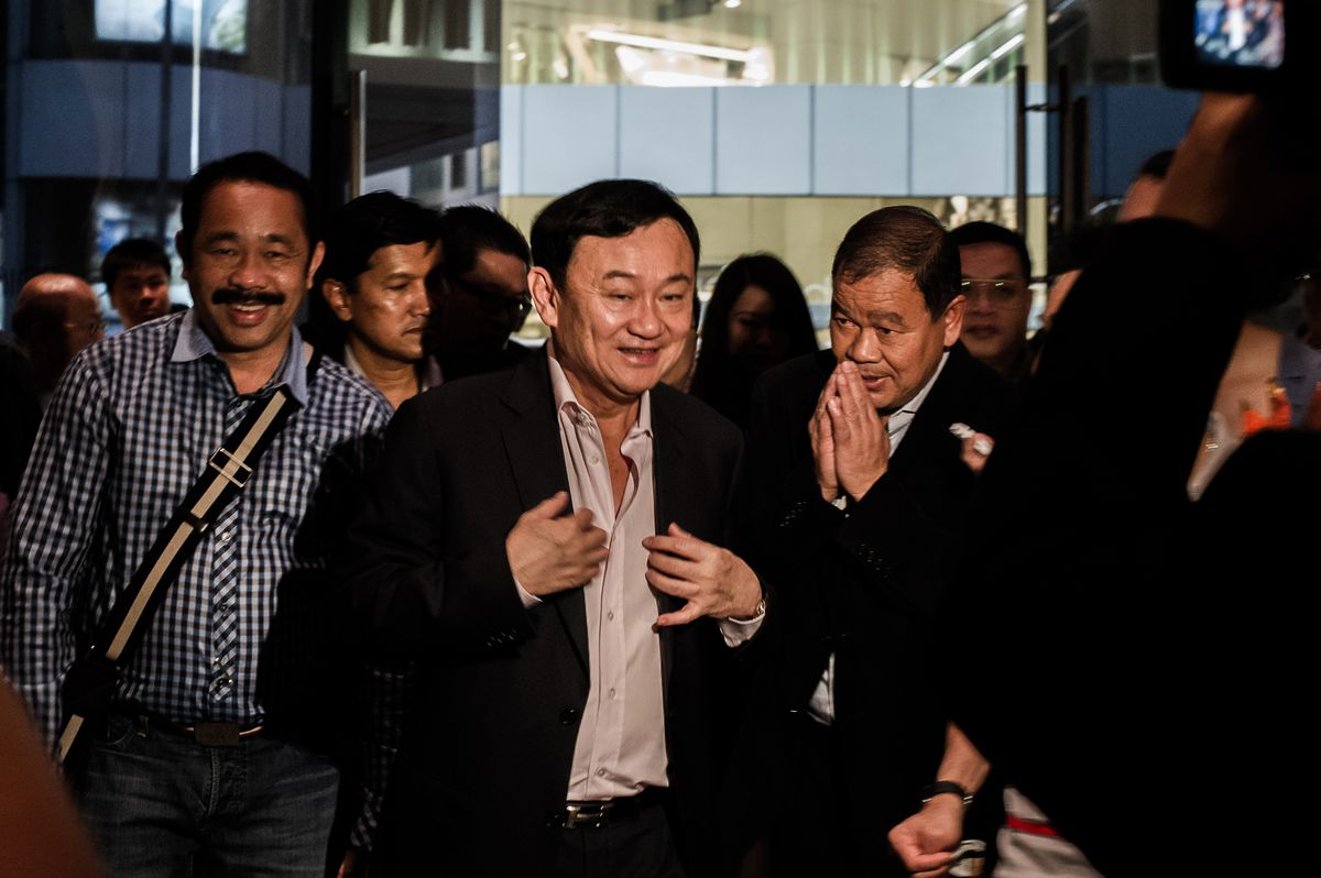 Former Prime Minister Thaksin Shinawatra in Hong Kong in 2012 (PHILIPPE LOPEZ/AFP/GettyImages)