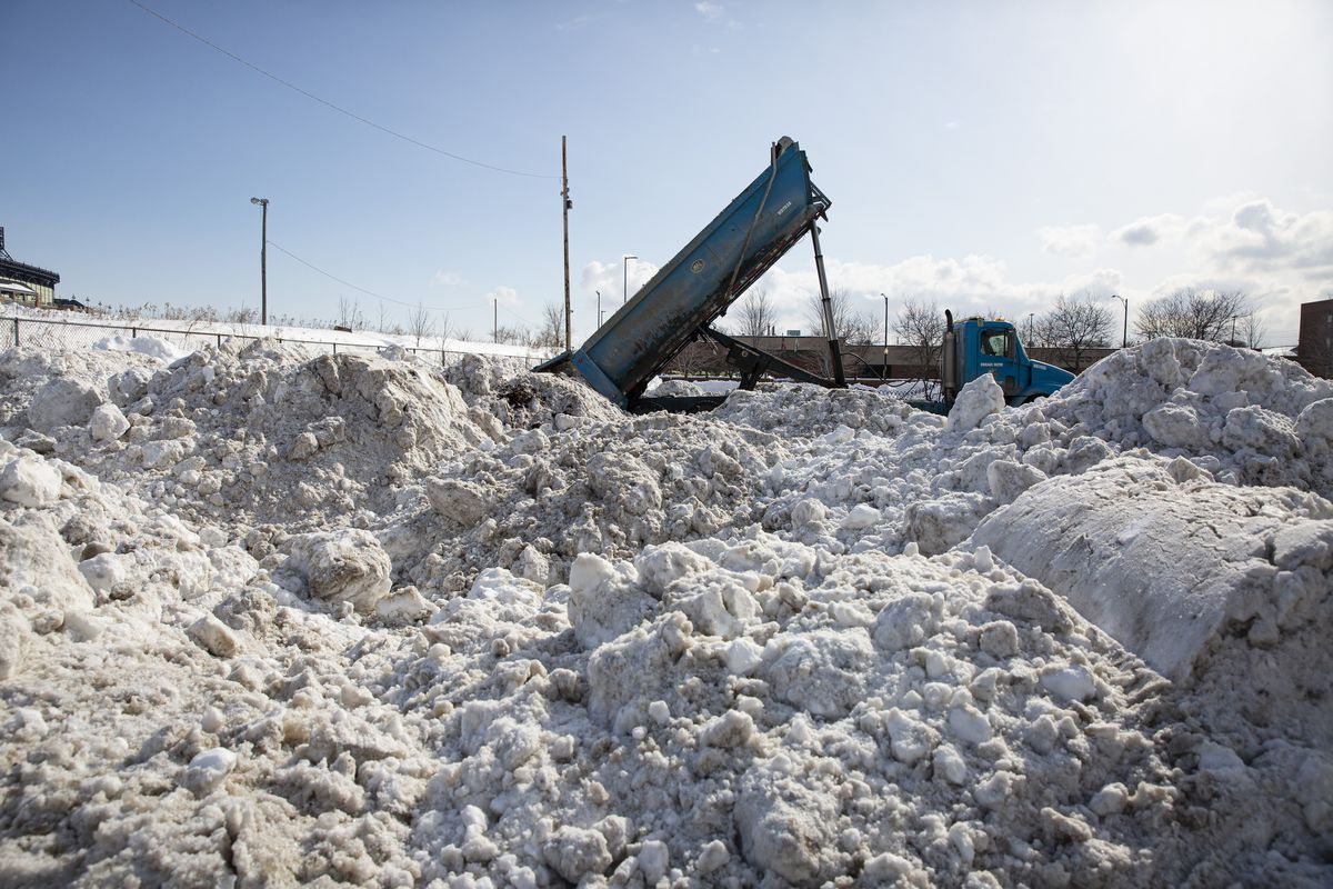 The city is hauling snow from clogged Chicago streets to Guaranteed Rate Field and other locations.