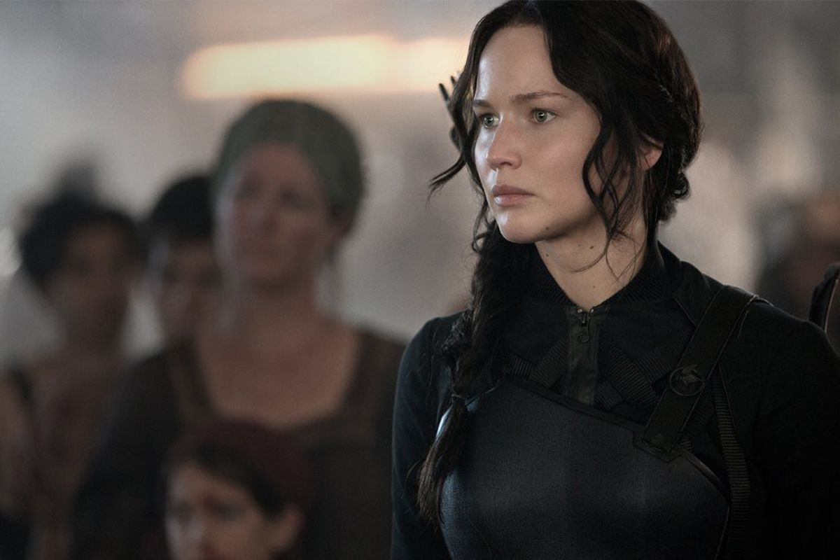 Jennifer Lawrence in Mockingjay Part 1