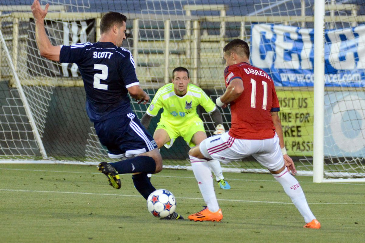 Barrera's helping Cubo get better looks at goal.