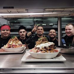 Giant chilaquiles, coming to the brunch menu at Guy Fieri's Vegas Kitchen & Bar.
