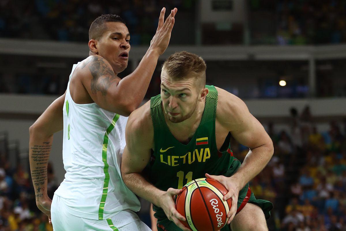 Brazil v Lithuania Men's Basketball - Olympics: Day 2
