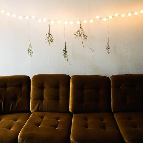string lights with ping pong balls