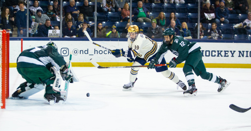 Notre Dame Hockey: Michigan State Spartans Overpower Irish 3-1 in South Bend