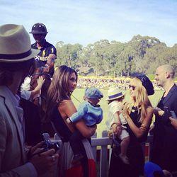 Alessandra Ambrosio and Rachel Zoe talking parenthood [Photo via Becky Katz]