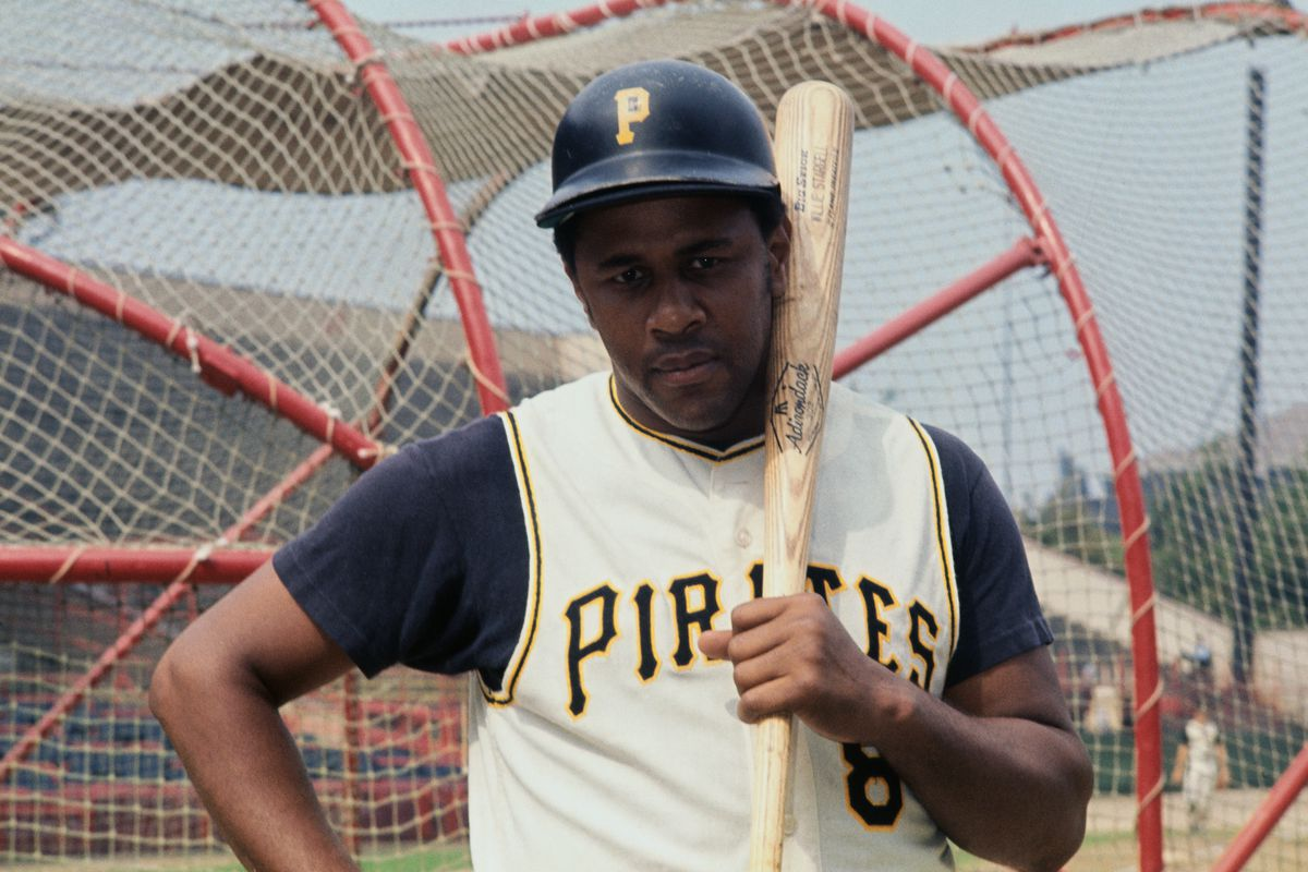Baseball Player Willie Stargell Holding Baseball Bat