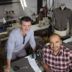 Brad and Raul in their Bushwick factory