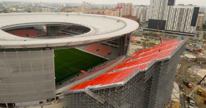 Surreal Photos Of Russian Stadium That Added Seats Outside