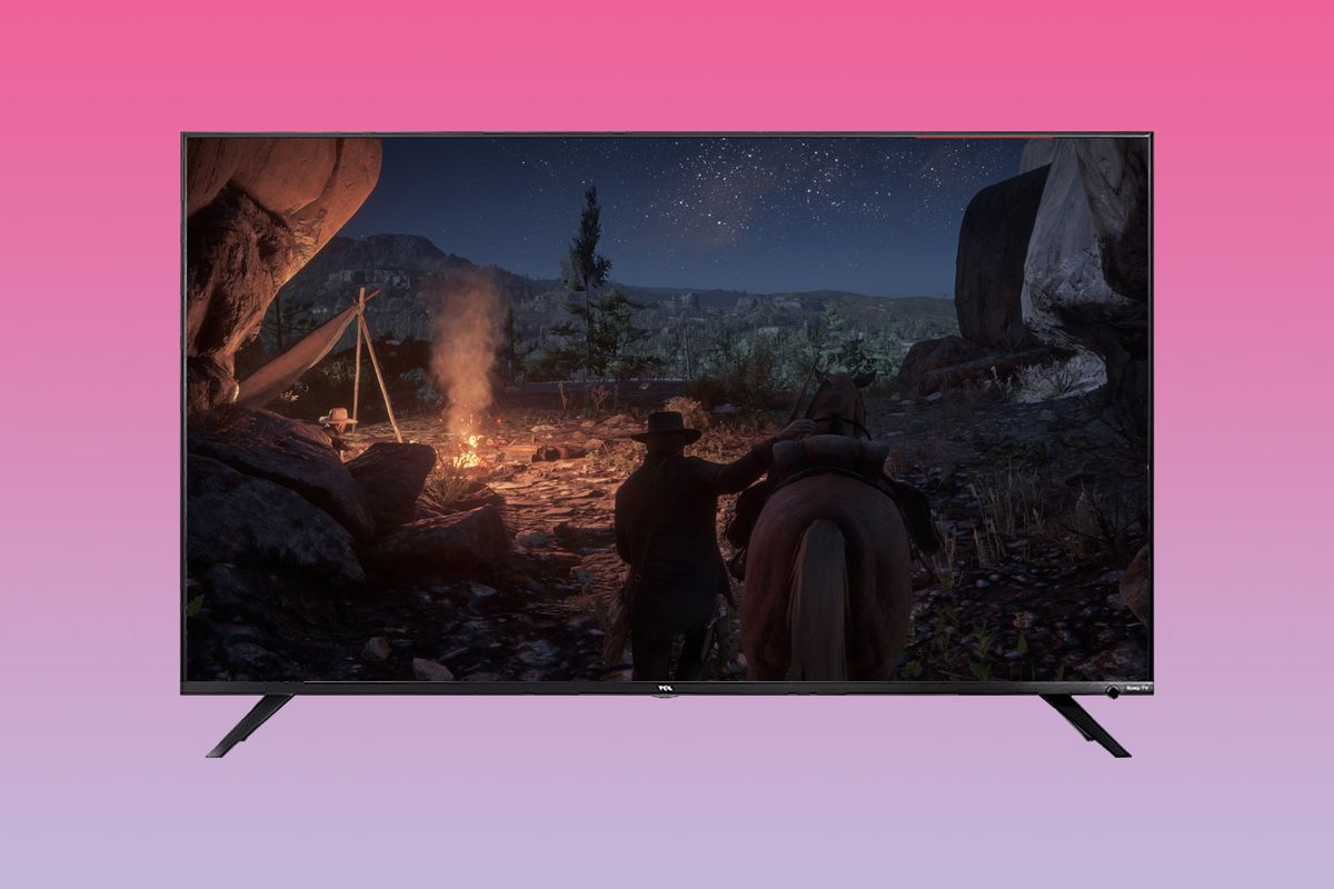 photo illustration of Red Dead Redemption 2 on the TCL R617 4K TV