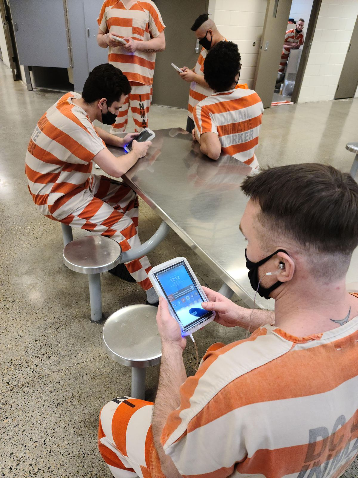 Inmates at the Davis County Jail are now issued tablets when they are booked into the housing units that are not maximum security. The tablets can be used for education, entertainment and to connect with family members. Jail administrators say the introduction of the tablets has made the inmate population much calmer and compliant.