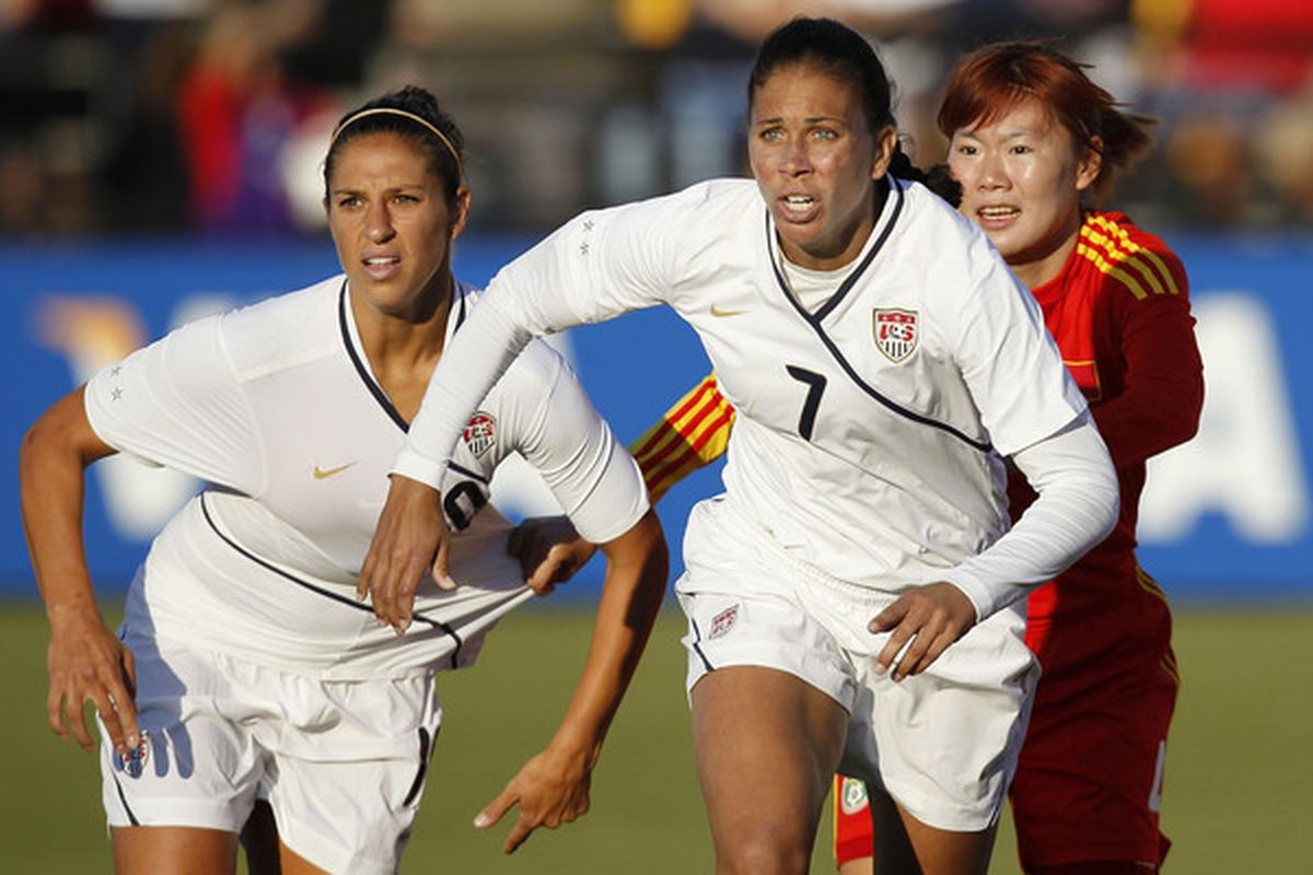 The U.S. Women's National Soccer Team is coming to town on Saturday to take on Canada as both teams prepare to head to the 2012 Olympics in London. (Photo by Mike Zarrilli/Getty Images)