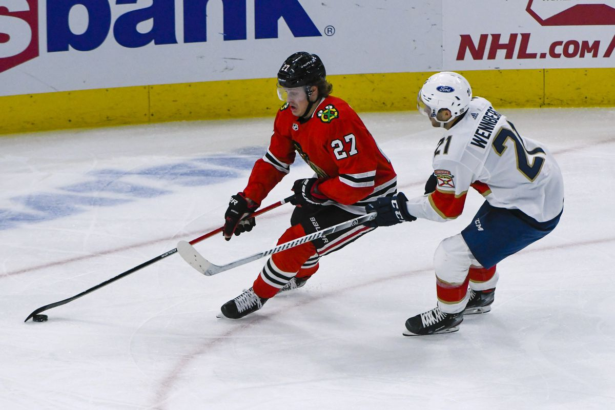 Adam Boqvist's playing time for the Blackhawks has increased lately.