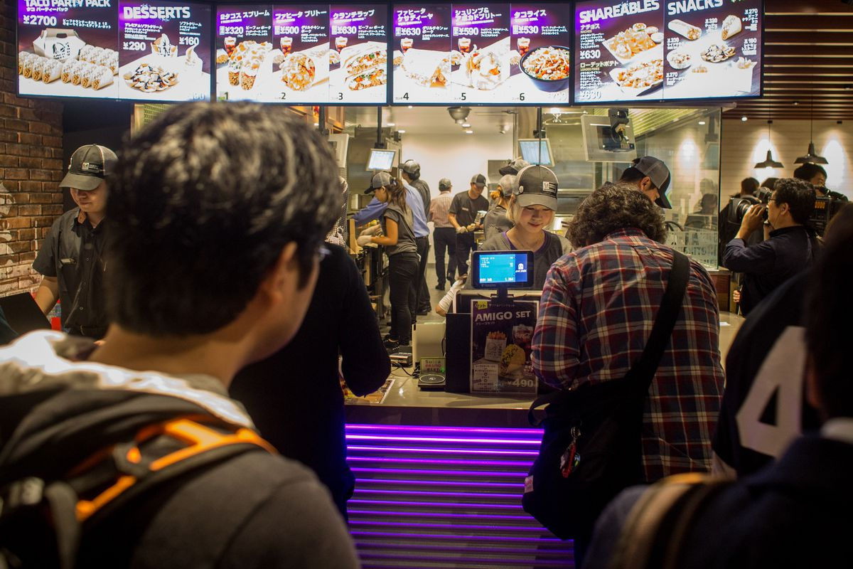 Taco Bell opening in Japan, which doesn't serve alcohol