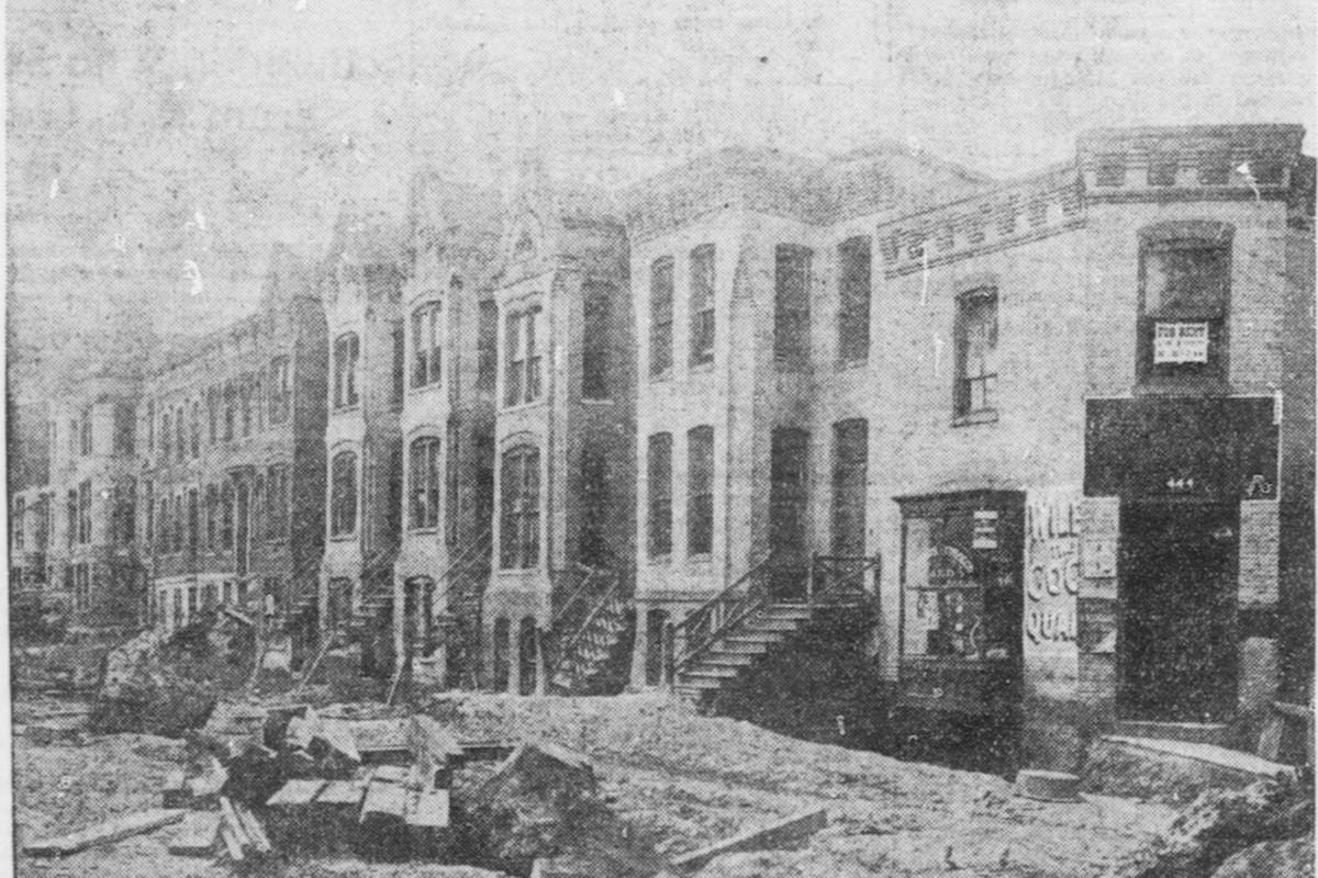 Photo of First Street NE taken August 22, 1904