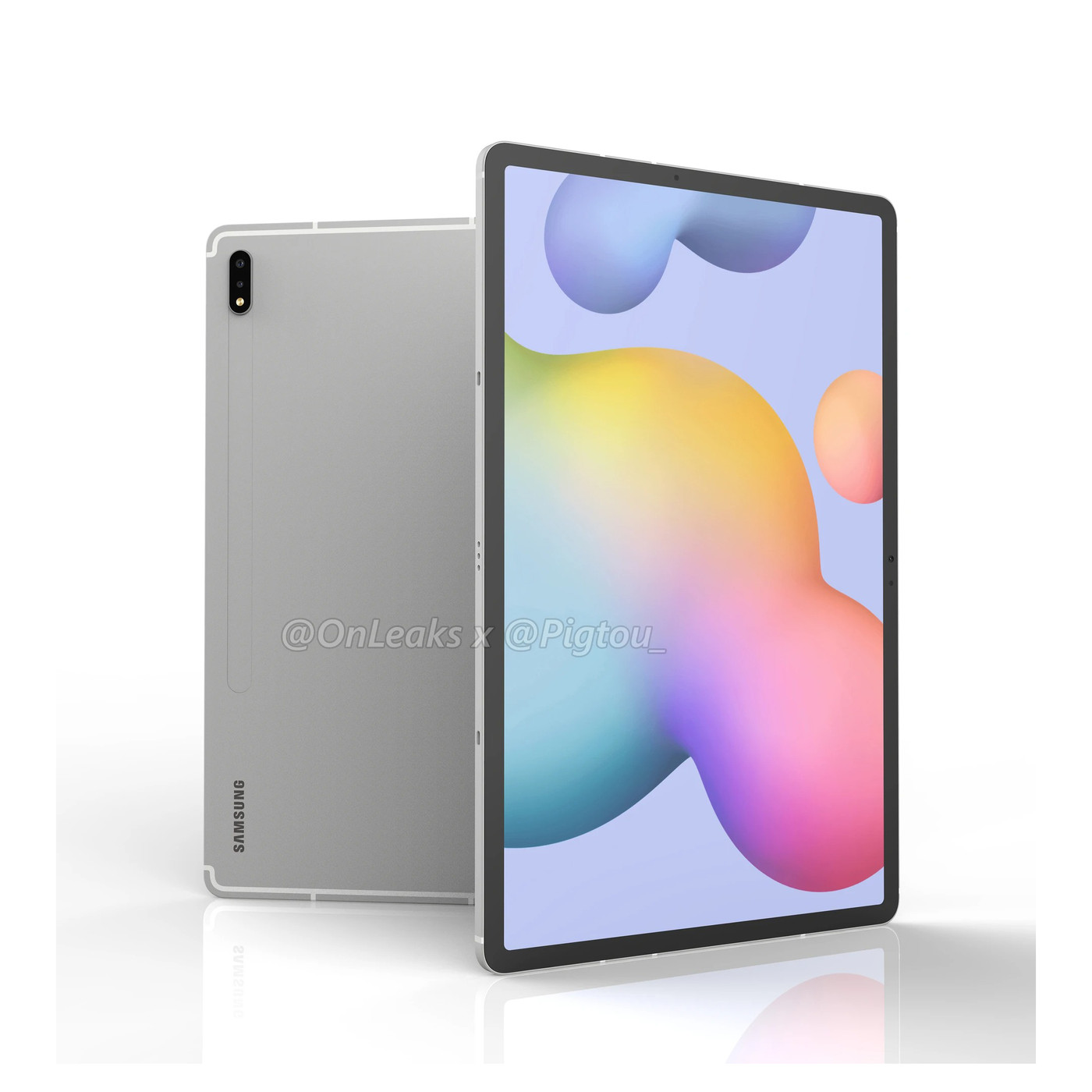 Galaxy Tab S7 Plus Renders Show Off A Big 12 4 Inch Display The Verge