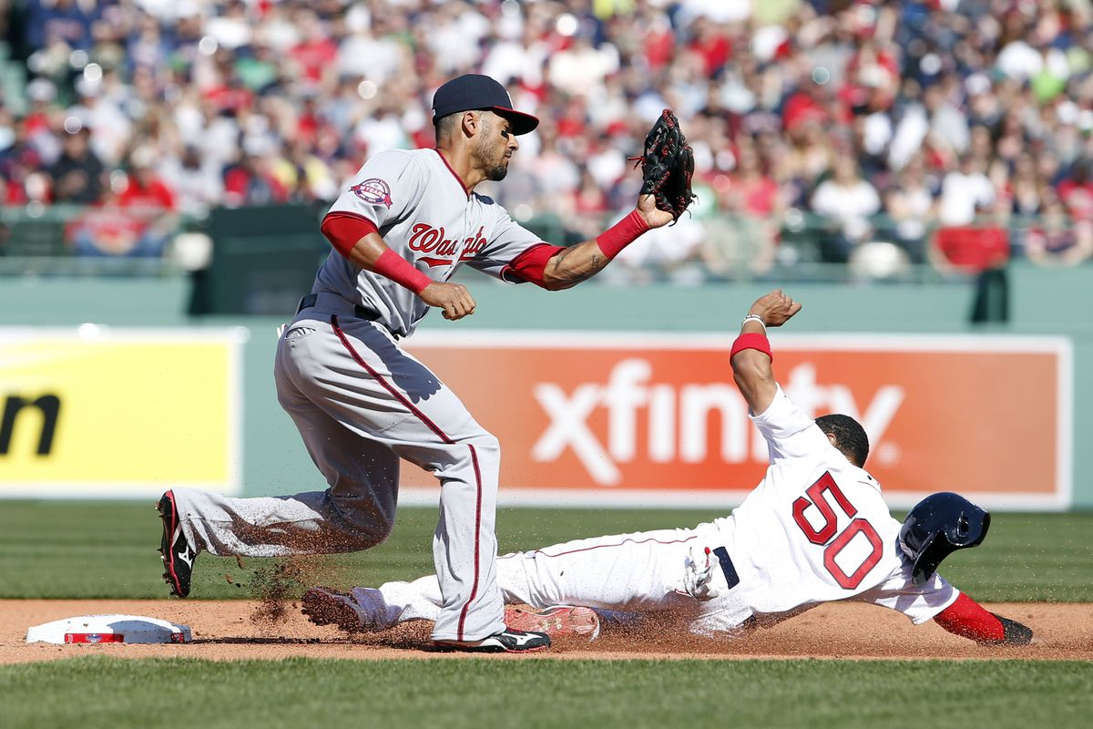 Ian Desmond made his sixth error in eight games, helping to spark a Red Sox rally that led to an 8-7 loss. Is it time for him to take a mental health day or two?