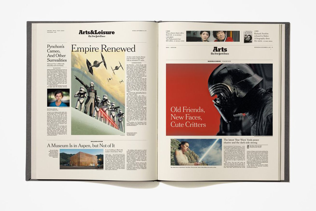 the new york times is selling a unique star wars book