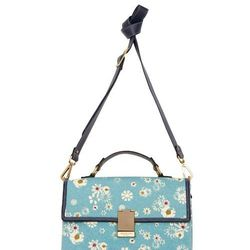 Look 25: Front-Flap Bag in Blue Floral, $39.99