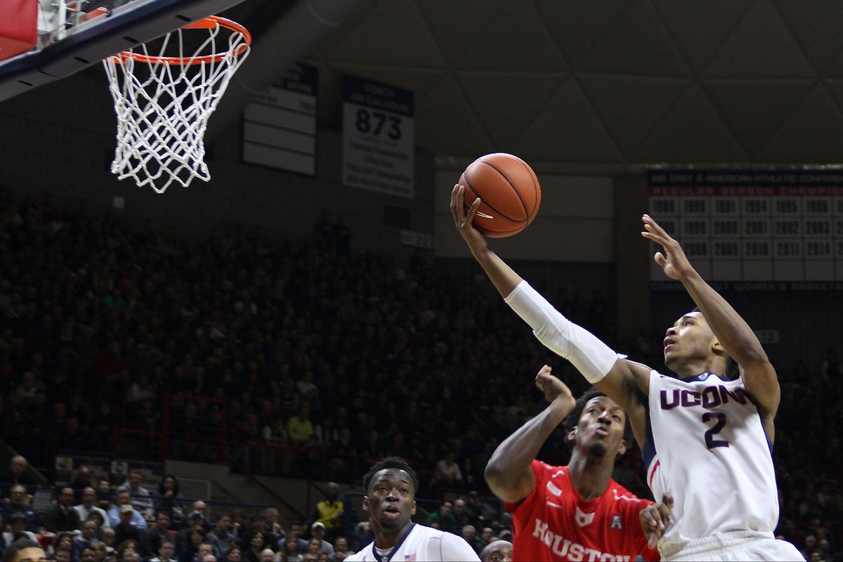 UConn men's basketball needs a win today to help their NCAA Tournament chances.