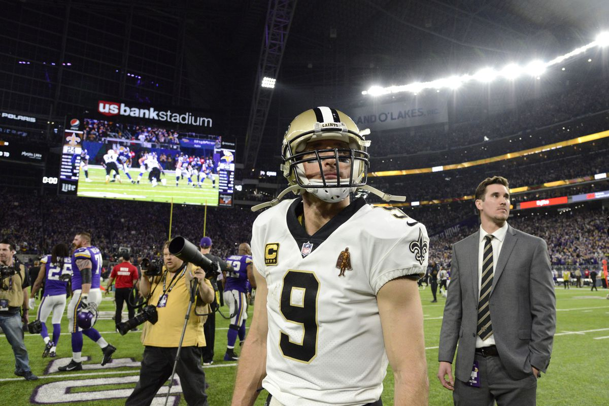 Image result for drew brees vikings