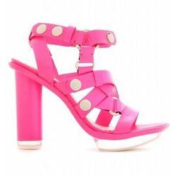 "<a href= ""http://www.mytheresa.com/us_en/perspex-detailed-leather-platform-sandals-137547.html?quid=61029863468S1086032T&gkid=490990412""> McQ Alexander McQueen Perspex detailed leather sandals</a>, $557 mythresa.com"