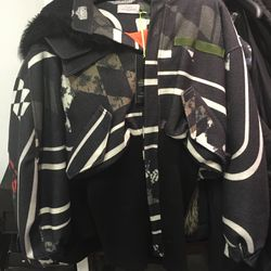 Preen by Thornton Bregazzi fall/winter 2014 Star Wars border bomber jacket with hood in size large, $880.80 (was $2,202)