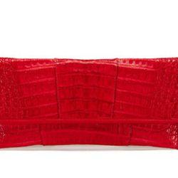Carlos Falchi Stylo Caiman clutch, reg $1,750. Gilt City Warehouse Sale price: $200.