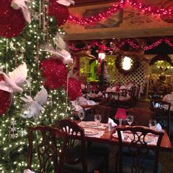 it takes three weeks to hang all the sparkly sparkly decorations at filomena