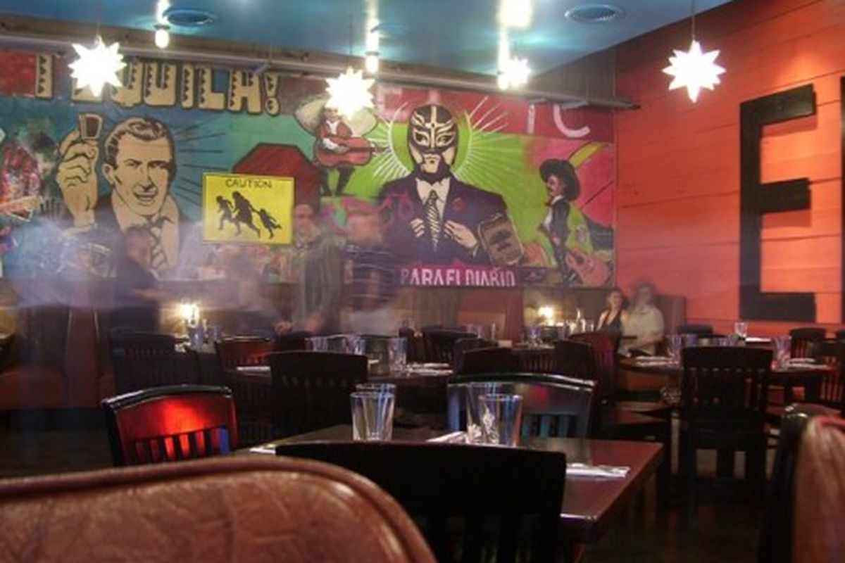 The dining room at El Taco
