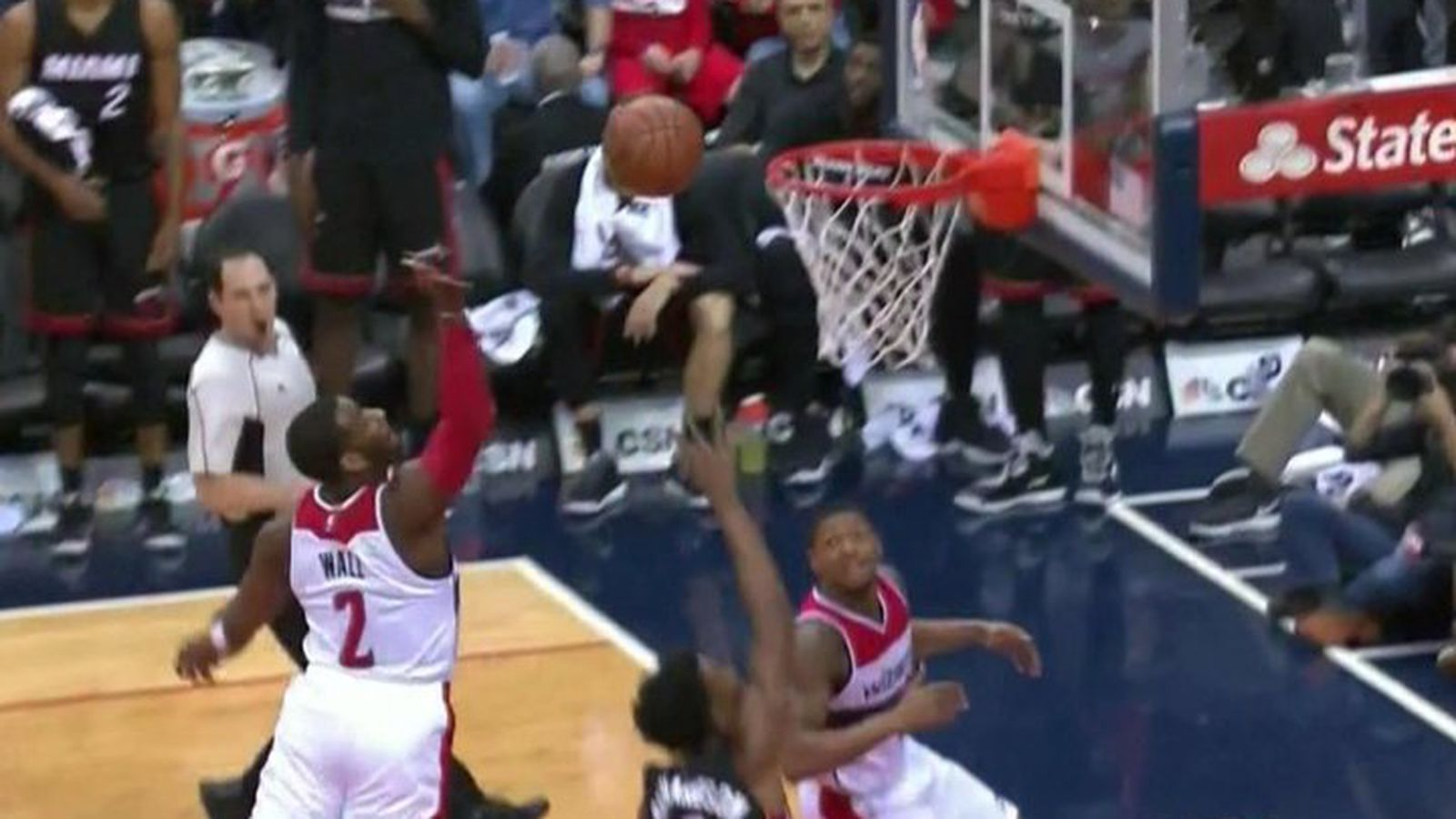 John Wall Sent A Basketball Flying Off The Backboard On