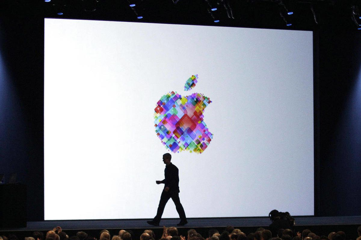 FILE-In this Monday, June 11, 2012, file photo, Apple CEO Tim Cook walks on stage during the Apple Developers Conference in San Francisco. Makers of consumer electronics are refreshing their products for the holiday shopping season. Apple's rivals are hop