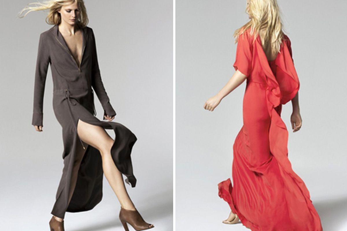 "Two Halston Heritage looks, via <a href=""http://www.wwd.com/retail-news/designer-luxury/halston-heritage-to-expand-retail-presence-6673541"">Women's Wear Daily</a>"